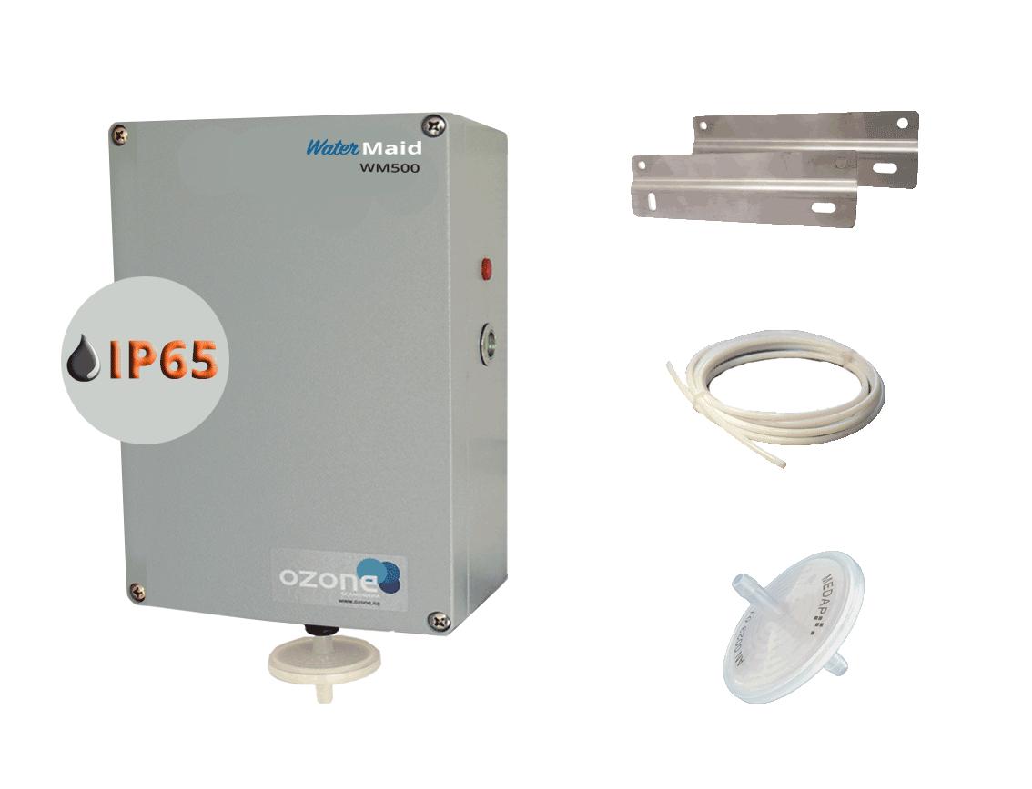 WaterMaid startpakke til vannrensing av boblebad med ozon generator