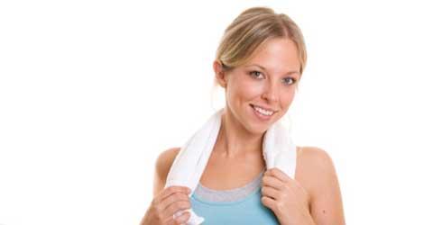 Dame som trener, hygienkontroll av treningssenter