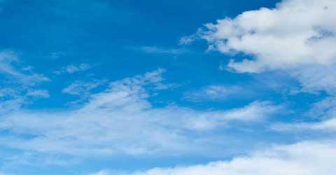 luktfjerning - blå himmel