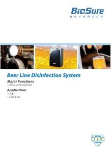 BioSure brosjyre: BLDS Beer Line Disinfection System